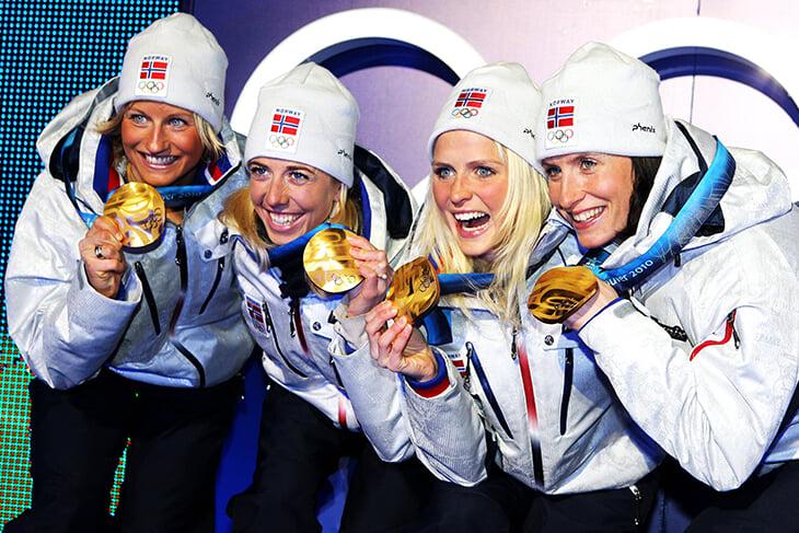 Марит Бьорген, лыжные гонки, Вибеке Скофтеруд, сборная Норвегии жен, Кристин Стермер Стейра