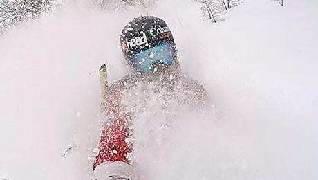 Страшное падение в горных лыжах
