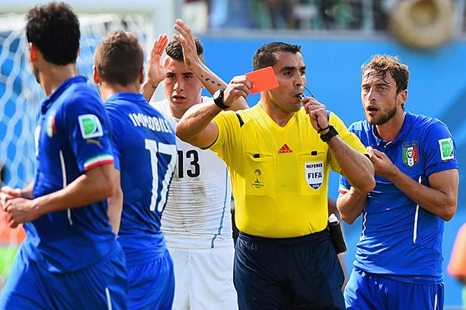 сборная Италии, судьи, ЧМ-2014, сборная Уругвая, Марко Родригес
