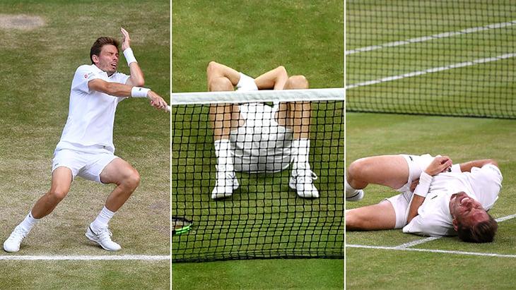 Теннисист за матч получил мячом в голову, в горло и в пах. И проиграл 5-часовой финал «Уимблдона»