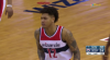 Kelly Oubre Jr. rattles the rim on the finish!