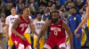 James Harden Posts 44 points, 15 assists & 10 rebounds vs. Golden State Warriors