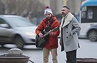 Башкиров и Шнуров поют на Невском проспекте