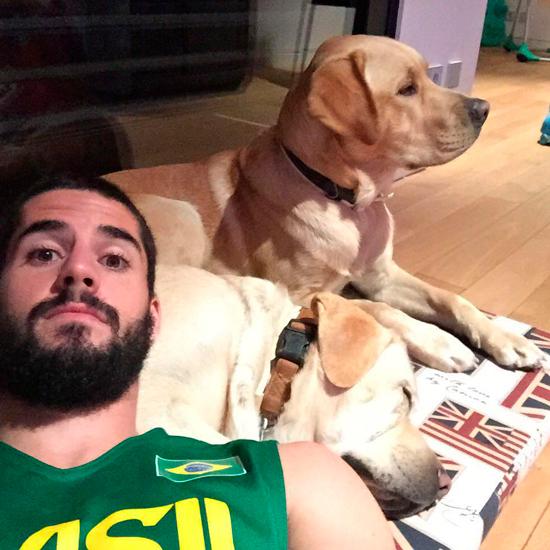 Собака футболиста иско