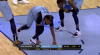 Mike Conley scores and draws the foul