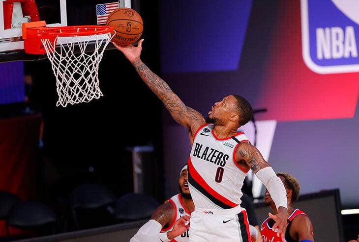 Дэмиан Лиллард – главный герой рестарта НБА. Сегодня набрал 61 очко, три из которых – настоящее чудо