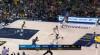 Myles Turner rises to block the shot