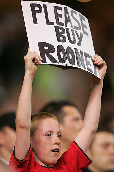 «Пожалуйста, купите Руни». Плакат, к которому в 2004-м прислушался «МЮ»