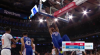 Joel Embiid with the huge dunk!