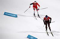 Россия идет на медаль в лыжной эстафете. Онлайн Олимпиады