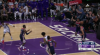 De'Aaron Fox rattles the rim on the finish!