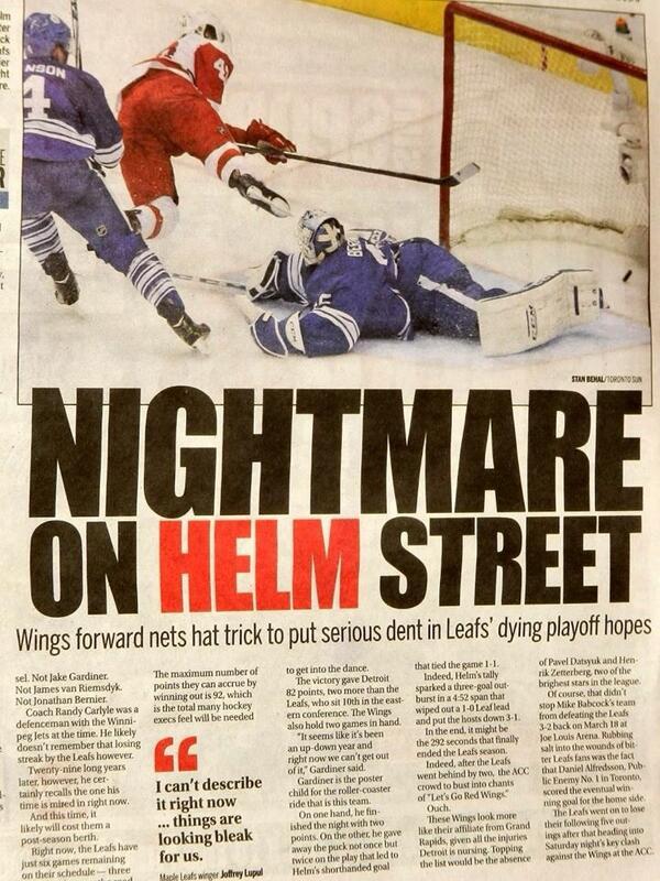 Toronto Sun после матча