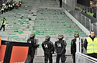 Лион, Сент-Этьен, лига 1 Франция, происшествия, болельщики, фото, Набиль Фекир