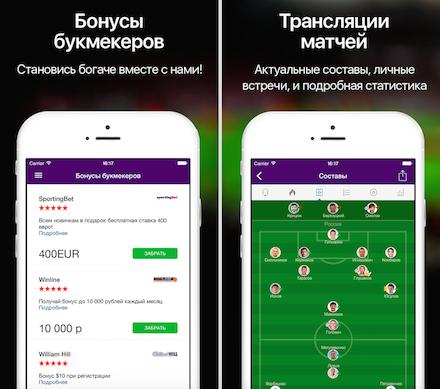 Самые лучшие приложение для ставок на спорт