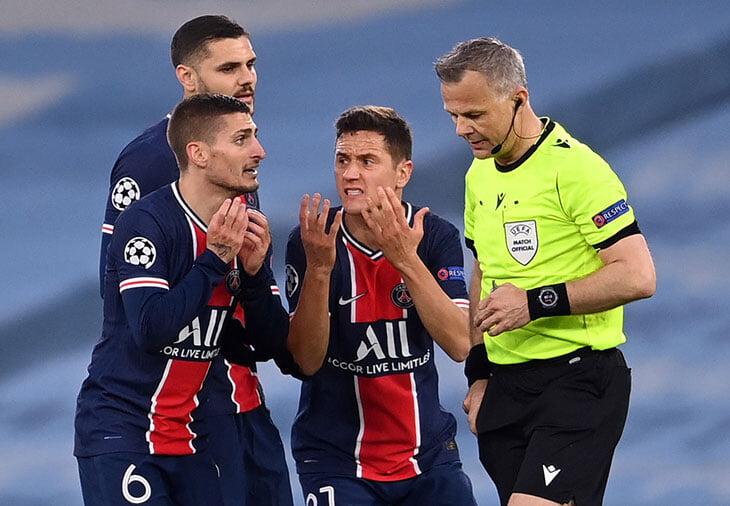 В «ПСЖ» говорят, что Куйперс оскорблял игроков. Французы психовали весь матч