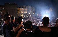 фото, болельщики, сборная Сербии, сборная Словении