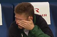 Шатов плачет после гола и травмы в матче с «Зенитом»