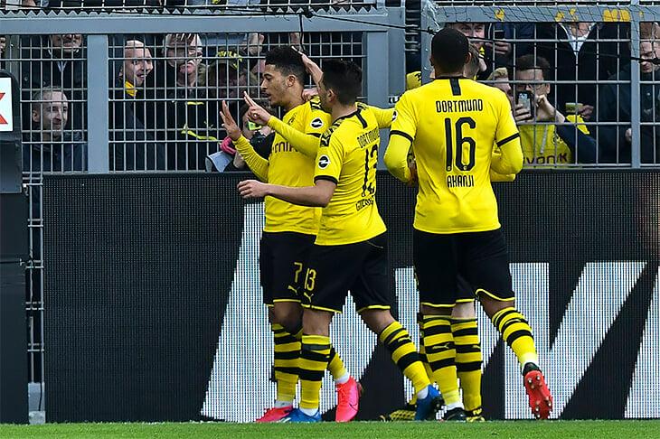 Джейдон Санчо забил 25-й гол в Бундеслиге. И посвятил его Кобе