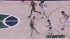 Jarrett Allen rises to block the shot
