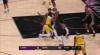 LeBron James rises to block the shot