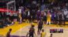 LeBron James flies in for the alley-oop slam