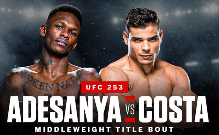 Исраэль Адесанья против Пауло Косты за титул, Блахович и Рейес разыграют вакантный чемпионсий пояс. Онлайн UFC 253