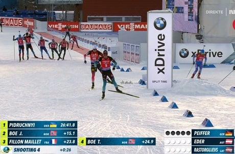 Француз и новежец убегают сражаться за медаль
