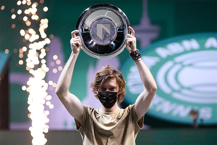 Рублев выиграл веселый финал в Роттердаме, повторил серии Федерера и Маррея и стал королем среднего уровня ATP