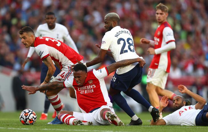 «Арсенал» разнес «Тоттенхэм» за первый тайм дерби. Помогли дыра в опорной зоне и совсем неготовый Кейн