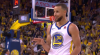Stephen Curry knocks it down as the clock expires