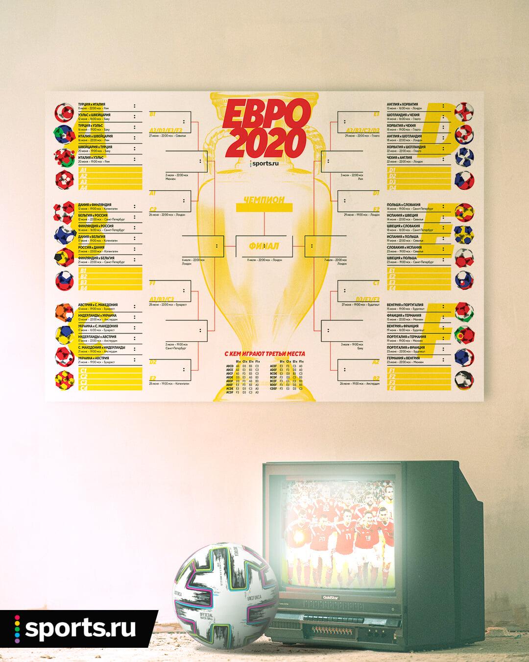 Искали шахматку для Евро? Мы сделали такую для вас. Распечатывайте и заполняйте!