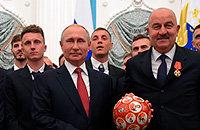 Артем Дзюба, ЧМ-2018, Владимир Путин, Станислав Черчесов, Сборная России по футболу