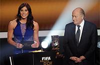 Хоуп Соло, женский футбол, происшествия, сборная США по футболу, Йозеф Блаттер, ФИФА