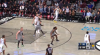 Domantas Sabonis hits the shot with time ticking down