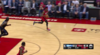 Danuel House rattles the rim on the finish!