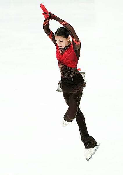 «Болеро» – программа, с которой Валиеву ведут к золоту Олимпиады. Пока все сыро: хореография вторична, а платье слишком сложное