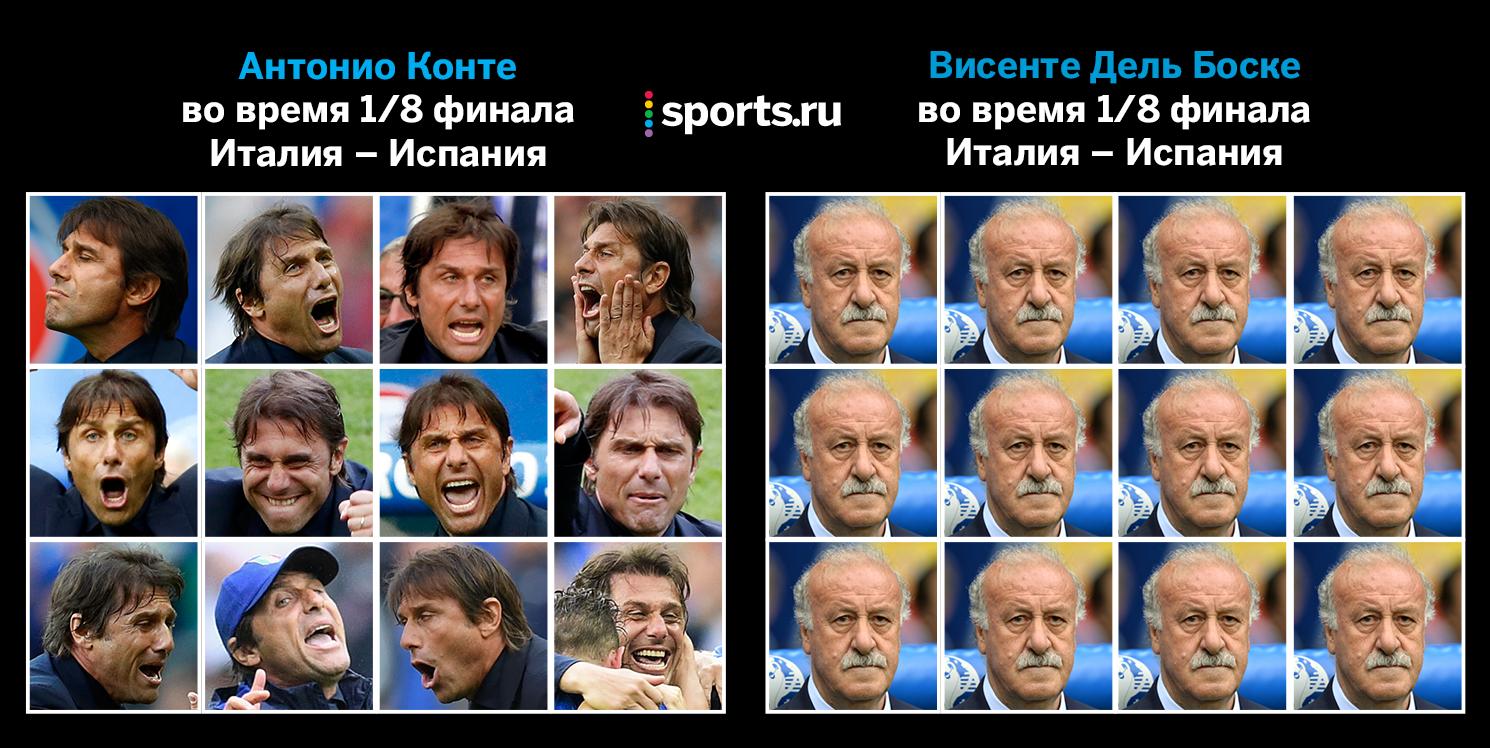 сборная Италии, сборная Испании, Евро-2016, фото, Антонио Конте, Висенте Дель Боске
