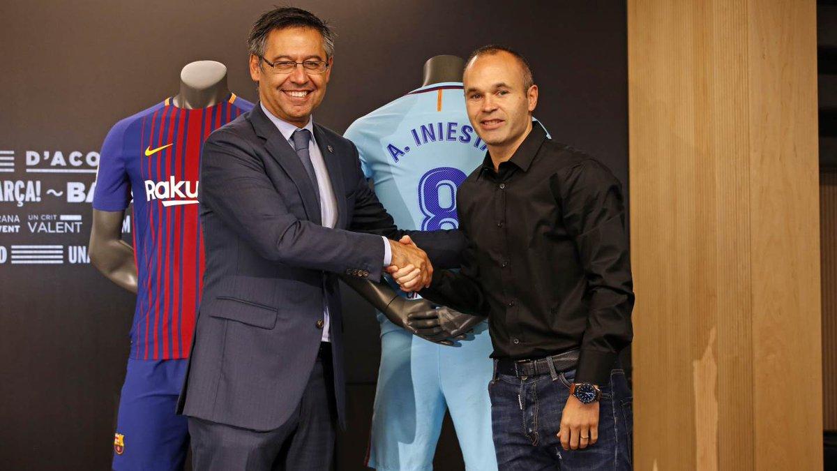 «Барселона» подписала договор  сАндресом Иньестой доконца его карьеры