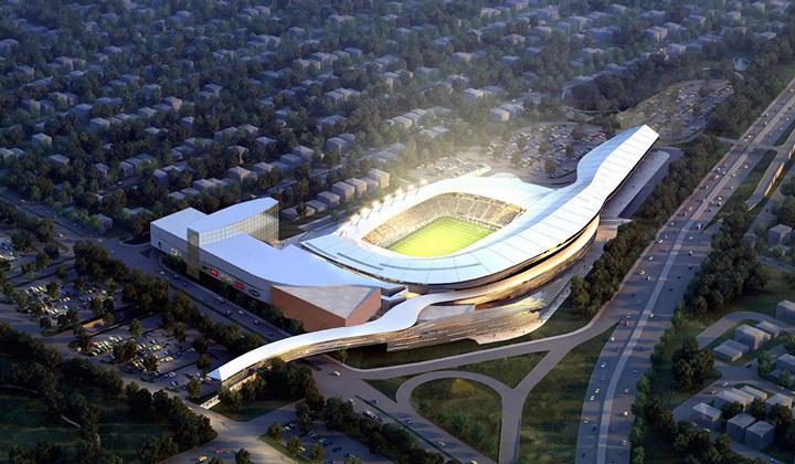 Проект нового стадиона «Космоса»