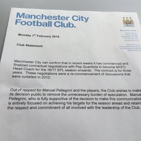 «Манчестер Сіті» оголосив про підписання контракту зГвардіолою