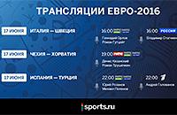сборная Чехии, сборная Италии, сборная Испании, сборная Турции, сборная Хорватии, телевидение, Евро-2016, сборная Швеции