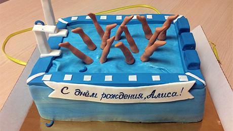 Самый обычный торт на день рождения синхронистки
