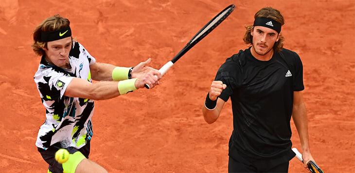 Рублев против Циципаса в 1/4 финала «Ролан Гаррос» – Андрей проиграл два сета. Онлайн