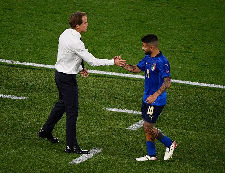 Инсинье обещал стать лидером Италии на Евро, но потерялся. Он бесполезен, если команда не контролирует мяч