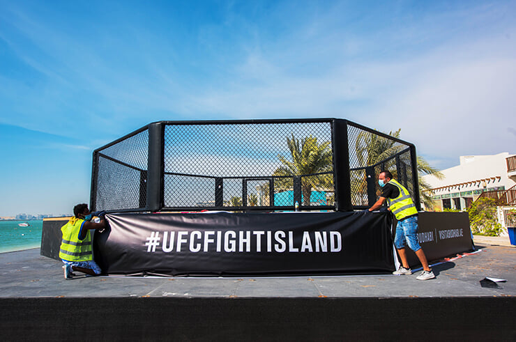 «Бойцовский остров» UFC готов к турнирам. Октагон прямо на пляже: достаточно взглянуть – сразу влюбитесь