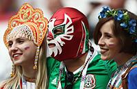 сборная России, сборная Мексики, Кубок конфедераций, фото, болельщики
