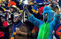 Фаны «Вероны» устроили на выезде настоящий карнавал: супергерои, пьяницы, душевнобольные. И приятный «Веронавирус»