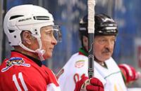 Путин и Лукашенко обожают хоккей. Мы посчитали, кто из них больше забивает