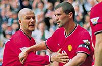 Манчестер Юнайтед, Рой Кин, премьер-лига Англия, Дэвид Бекхэм, фото