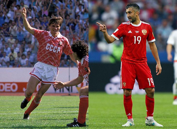 На Кубке конфедераций-2017 Россия играла в форме, напоминающей комплект с  Евро-1988. 2a7bd2f86ec